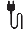 plug silhouette vector image vector image