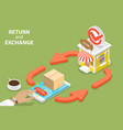 product exchange and return policy purchase vector image vector image
