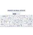 real estate investment doodle concept vector image