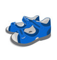 Realistic child sandals on white background 02 vector image
