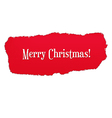Red Paper Hole With Christmas Text vector image vector image