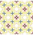 retro daisy floral pattern hand drawn vector image vector image