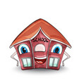 school house cartoon characters red buildings vector image vector image