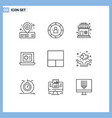 set 9 outlines on grid for love layout shop vector image vector image