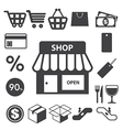 Shopping icons set eps 10 vector