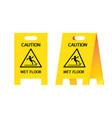 signal warning wet floor vector image vector image