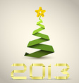 Simple paper christmas tree vector image vector image