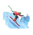 Slalom downhill skiing vector image vector image