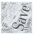 SM save money on utilities Word Cloud Concept vector image vector image
