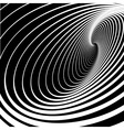 spiral whirl movement vector image vector image