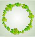 st patricks day green clovers ring abstract vector image vector image