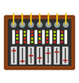 studio sound mixer icon isolated vector image vector image