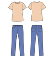 T shirt and jeans vector image vector image