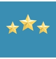 three relief gold stars icon vector image vector image