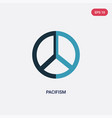 two color pacifism icon from world peace concept vector image