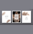 wedding invitation card template design poster vector image