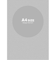 White gray dots circle frame background A4 size vector image