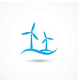 Wind turbine icon vector image vector image