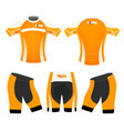yellow style sports t-shirt vector image vector image