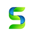 S letter leaves eco logo volume icon vector image