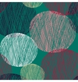 Seamless abstract circle pattern vector image