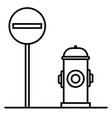 prohibited way icon vector image