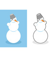 Snowman Man made of snow for new year Cute vector image