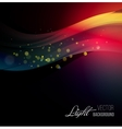 Abstract background with shiny wave and bokeh vector image vector image