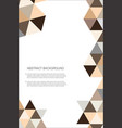 abstract geometric design background template 8 vector image vector image