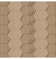 Abstract geometric pattern in brown colors vector image