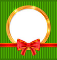 abstract glow golden circle frame christmas vector image