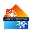 air conditioning and heating at home sun snowflake vector image vector image