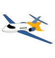 airplane crash on white background vector image