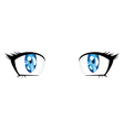 Anime style blue eyes vector image vector image