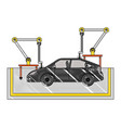 assembly line tires automatic auto production vector image