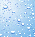 Background with water drops vector image