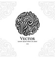 beautiful leaf ornament emblem vector image vector image