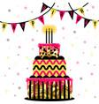 big cake isolated on white vector image