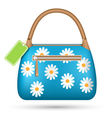 Blue woman spring bag with chamomiles flowers and vector image vector image