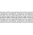 border Black seamless pattern vector image vector image