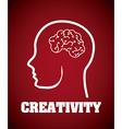 brain design vector image