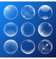 Bubbles signs set vector image