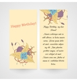 Card with abstract hamd drawn flower vector image