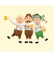 cartoon men oktoberfest icon graphic vector image vector image