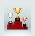 champion cups vector image