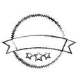circle seal emblem icon vector image vector image