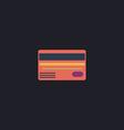 Credit card computer symbol vector image vector image