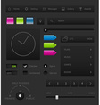 dark user interface vector image