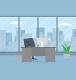 design of modern office designer workplace vector image vector image