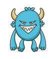 evil cartoon furry creature monster vector image